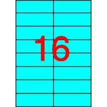 Etikett, 105x37 mm, színes, APLI, kék, 320 etikett/csomag (LCA1596)