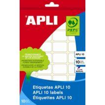 Etikett, 24x24 mm, kézzel írható, kerekített sarkú, APLI, 240 etikett/csomag (LCA1645)