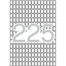 Etikett, 8x12 mm, kerekített sarkú, A5 hordozón, APLI, 3375 etikett/csomag (LCA1857)