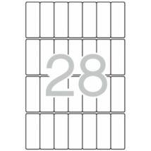 Etikett, 20x50 mm, kerekített sarkú, A5 hordozón, APLI, 420 etikett/csomag (LCA1867)