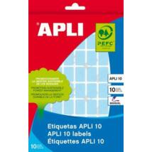 Etikett, 12x18 mm, kézzel írható, színes, kerekített sarkú, APLI, kék, 448 etikett/csomag (LCA2751)