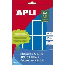 Etikett, 25x40 mm, kézzel írható, színes, kerekített sarkú, APLI, kék, 128 etikett/csomag (LCA2755)