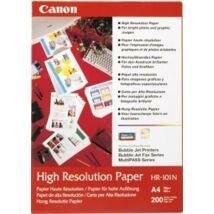 HR-101 Fotópapír, tintasugaras, A4, 106 g, matt, nagyfelbontású, 200 lapos CANON (LCHR101A4)