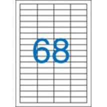 Etikett, univerzális, 48,5x16,9 mm, VICTORIA, 6800 etikett/csomag (LCV11365)