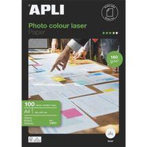 Fotópapír, lézer, A4, 160 g, fényes, kétoldalas, APLI Premium Laser (LEAA11817)
