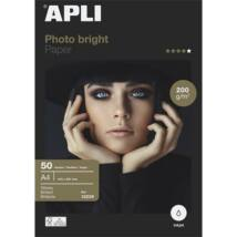 Fotópapír, tintasugaras, A4, 200 g, fényes, APLI Everyday (LEAA12239)