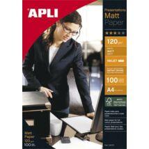 Fotópapír, tintasugaras, dobozos,  A4, 120 g, matt, APLI Presentations (LEAA4133)