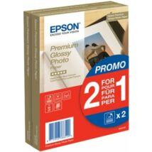 S042167 Fotópapír, tintasugaras, 10x15, 255 g, fényes, 2x40 lap, EPSON (LEPS167)