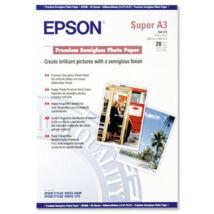 S041328 Fotópapír, tintasugaras, A3+, 251 g, félfényes, EPSON (LEPS328)