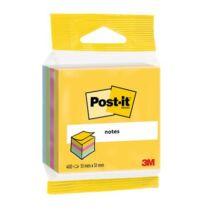 Öntapadó jegyzettömb, 51x51 mm, 400 lap, bliszteres, 3M POSTIT, ultra színek (LP2012MUC)