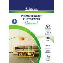 Fotópapír, tintasugaras, A4, 90 g, matt, VICTORIA Universal (LVIM01)