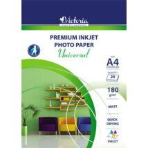 Fotópapír, tintasugaras, A4, 180 g, matt, VICTORIA Universal (LVIM02)