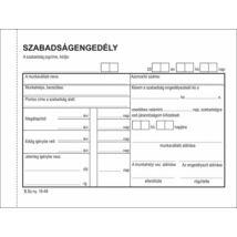 Nyomtatvány, szabadságengedély, 50x2, A6, VICTORIA B.18-49, 10 tömb/csomag (NVB1849V)