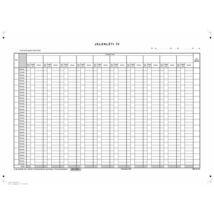 Nyomtatvány, jelenléti ív, 1 hónap-10 fő, A3, VICTORIA C.60-3 (NVC603)
