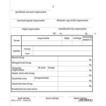 Nyomtatvány, termékkísérő jegyzék, 25x4, VICTORIA DMG 3-12 (NVDMG312)