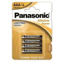 Elem, AAA mikro, 4 db, PANASONIC Alkaline power (PEBAAA4)