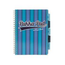 Spirálfüzet, A4, vonalas, 100 lap, PUKKA PAD Vogue project book, kék (PUP8538V)