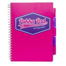 Spirálfüzet, A4, vonalas, 100 lap, PUKKA PAD Vision project book, rózsaszín (PUP8609V)