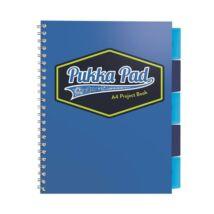 Spirálfüzet, A4, vonalas, 100 lap, PUKKA PAD Vision project book, kék (PUP8610V)