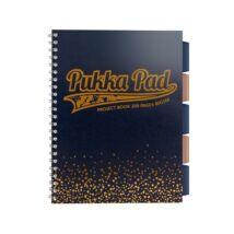 Spirálfüzet, A4+, kockás, 100 lap, PUKKA PAD, Blush project book, tengerészkék (PUPBLS8248K)