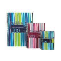 Spirálfüzet, A4+, kockás, 100 lap, PUKKA PAD Stripe Jotta (PUPJP018K)