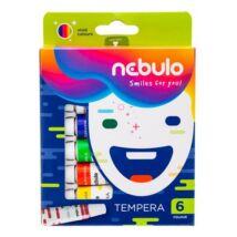 Tempera készlet, 6 darabos, NEBULÓ (RNEBT6)
