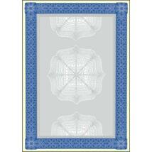 Előnyomott papír, A4, 185 g, SIGEL Oklevél, kék (SDP490)