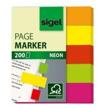 Jelölőcímke, papír, 5x40 lap, 12x50 mm, SIGEL Neon Mini, vegyes szín (SIHN655)