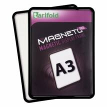 Mágneses tasak, hátán mágneses csíkkal, A3, TARIFOLD Magneto Solo, fekete (TF195067)