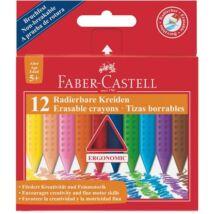 Zsírkréta, háromszögletű, FABER-CASTELL Grip, 12 különböző szín (TFC122520)