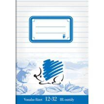 Füzet, tűzött, A5, vonalas, 32 lap, 3. osztály, ICO Süni (TICSU1232)