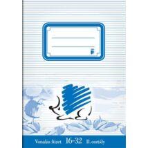 Füzet, tűzött, A5, vonalas, 32 lap, 2. osztály, ICO Süni (TICSU1632)