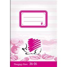 Füzet, tűzött, A5, hangjegy, 32 lap, ICO Süni (TICSU3616)
