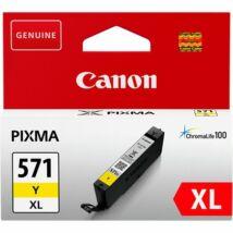 CLI-571YXL Tintapatron Pixma MG5750, 6850,7750 nyomtatókhoz, CANON, sárga, 11 ml (TJCBCLI571YXL)