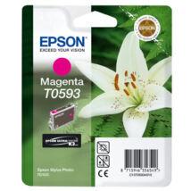 T05934010 Tintapatron StylusPhoto R2400 nyomtatóhoz, EPSON vörös, 13ml (TJE59340)