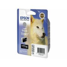 T09674010 Tintapatron StylusPhoto R2880 nyomtatóhoz, EPSON, világos fekete, 11,4ml (TJE96740)