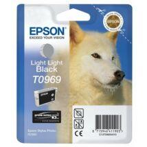 T09694010 Tintapatron StylusPhoto R2880 nyomtatóhoz, EPSON, világos világos fekete, 11,4ml (TJE96940)