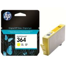CB320EE Tintapatron Photosmart C5380, C6380, D5460 nyomtatókhoz, HP 364 sárga, 300 oldal (TJHCB320E)