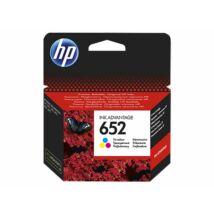 F6V24AE Tintapatron Deskjet Ink Advantage 1115 sor nyomtatókhoz, HP 652 színes, 200 oldal (TJHF6V24A)