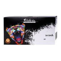 Q2612AD Lézertoner LaserJet 1010, 1015, 1018 nyomtatókhoz, VICTORIA 12A, fekete, 2*2k (TOHP2612VEC)
