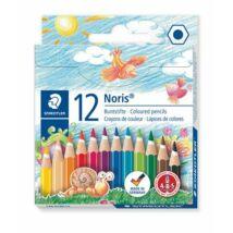 Színes ceruza készlet, hatszögletű, félhosszú, STAEDTLER Noris Club, 12 különböző szín (TS14401NC12)