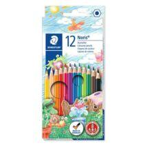 Színes ceruza készlet, hatszögletű, STAEDTLER Noris Club, 12 különböző szín (TS144NC12)