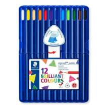 Színes ceruza készlet, háromszögletű, vastag, STAEDTLER Ergo Soft Jumbo, 12 különböző szín (TS158SB12)