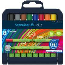 Tűfilc készlet, 0,4 mm, SCHNEIDER Link-it, összeilleszthető, 8 különböző szín (TSCLINKTV8)