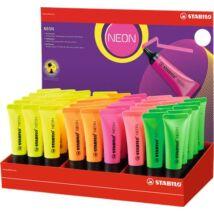 Szövegkiemelő display, 2-5 mm, STABILO Neon, vegyes színek (TST72451)