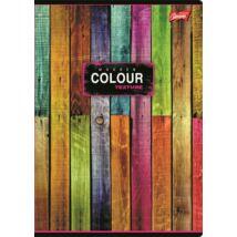 Spirálfüzet, A4, kockás, 80 lap, UNIPAP Color (UNCO480K)