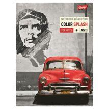 Spirálfüzet, A5, kockás, 96 lap, UNIPAP Color Splash (UNCOSP596K)