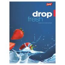 Füzet, tűzött, A4, kockás, 32 lap, UNIPAP Fresh Fruit (UNFF432K)