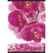 Füzet, tűzött, A4, kockás, 32 lap, UNIPAP Flowers (UNFLO432K)
