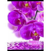 Spirálfüzet, A4, kockás, 80 lap, UNIPAP Flowers (UNFLO480K)